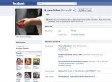 Pagina de Facebook a Roxanei Briban