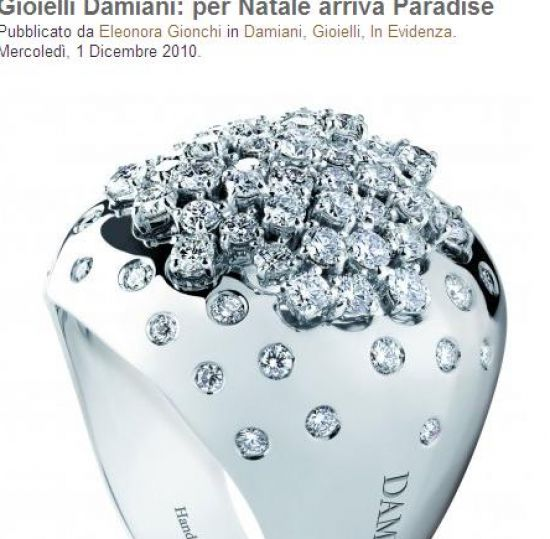 Collectie inel Damiani/captura myluxury.it
