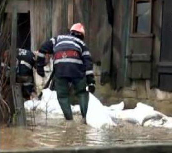 Inundatii in Satu Mare/captura video realitatea.net