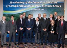 A 23-a Reuniune a Consiliului Ministrilor Afacerilor Externe al Organizatiei Cooperarii Economice a Marii Negre (OCEMN), desfasurata la Salonic pe 26 noiembrie 2010.