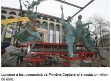 Statuile din bronz realizate de Ioan Bolborea/captura foto adevarul.ro