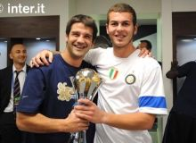 Cristian Chivu si Denis Alibec / inter.it